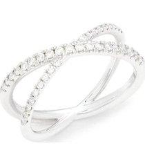 18k white gold, diamonds, & ruby ring