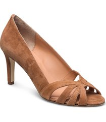 open toe pump string shoes heels pumps classic brun apair