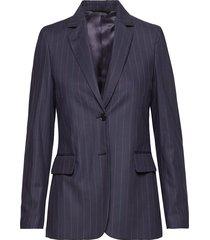 g2.washable pinstripe blazer blazer colbert blauw gant