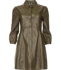 faux leather jurk lana  groen