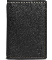 men's trask 'jackson' folding card case - black