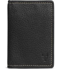 men's trask jackson folding leather card case - black