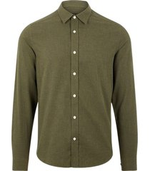 light flannel slim shirt
