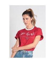 t-shirt ts0003 estampada traymon vermelho