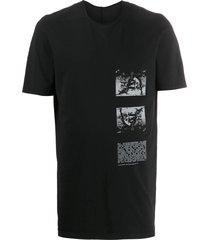 rick owens drkshdw photographic print mid-length t-shirt - black
