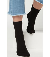 calzedonia short cotton thermal socks woman black size tu