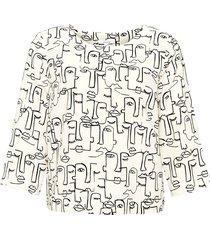 opus blouse met print falesha linear