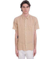 120% lino shirt in beige linen