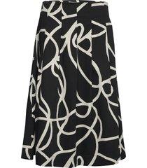 sally knälång kjol svart masai