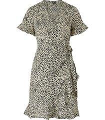 omlottklänning vmhenna 2/4 wrap frill dress
