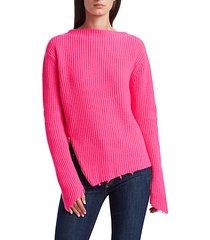 sadie cashmere & merino wool asymmetric sweater