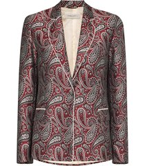 golden goose venice paisley-print blazer - red