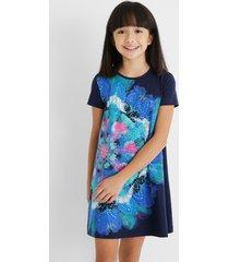 pleasant touch t-shirt dress - blue - 5/6