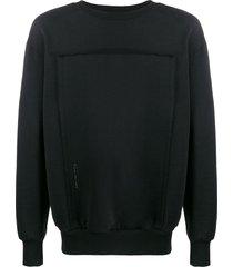 diesel raw panel sweatshirt - black
