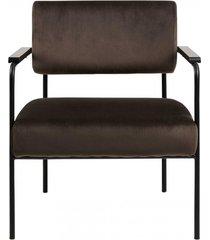 fotel welwetowy kim brązowy