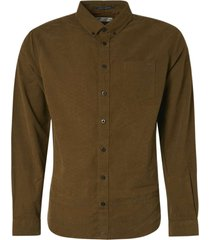 no excess shirt long sleeve fine corduroy moss