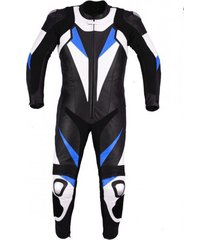 new men,s black blue white color motorcycle leather suit leather jacket and pant