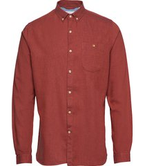 melange effect flannel shirt - gots overhemd casual rood knowledge cotton apparel