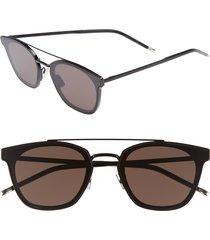 men's saint laurent sl 28 61mm polarized sunglasses - black