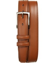 men's torino kipskin leather belt, size 38 - saddle tan