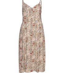 dress floral print plus buttons maxiklänning festklänning rosa zizzi
