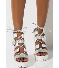 akira cape robbin stack me up lug sole sandal