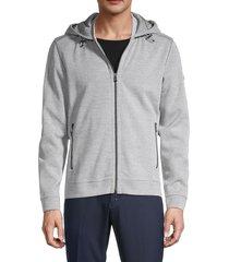 bogner men's full-zip hooded jacket - grey - size xxl