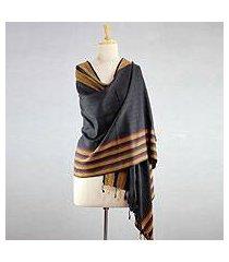 silk shawl, 'sunset in bhagalpur' (india)