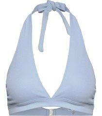 recycled textured bikinitop blauw ganni