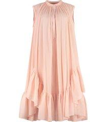 alexander mcqueen cotton-silk blend dress