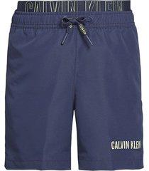 calvin klein heren zwembroek double waist - donker blauw
