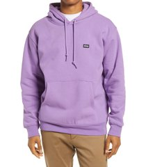 obey men's cotton blend hoodie, size medium in orchid at nordstrom