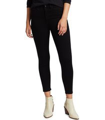rag & bone women's nina high-rise ankle cigarette jeans - black - size 29 (6-8)