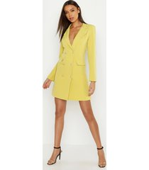 tall blazer jurk, geel