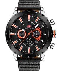 reloj análogo f0079g-4 hombre negro
