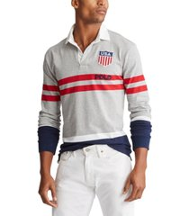 polo ralph lauren men's big & tall classic fit cotton jersey rugby shirt