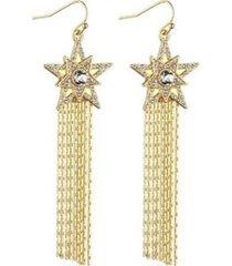 nicole miller star chain drop earring