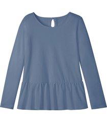 jersey shirt met schootje en druppelvormige opening op de rug, nachtblauw 42
