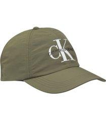 gorras gorra de sarga de nailon con logo calvin klein