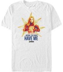 marvel men's avengers endgame before you didn't have me short sleeve t-shirt