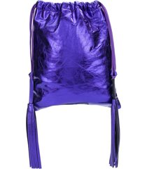 attico tassel drawstring bag - purple