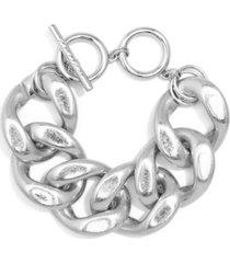 chunky burnished chain bracelet