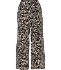 pantaloni culotte fantasia in viscosa sostenibile (nero) - bodyflirt