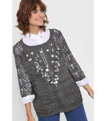 sweater plateado laila scarlett