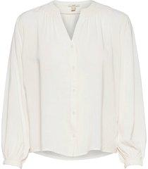 blouses woven blus långärmad vit edc by esprit