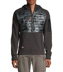 camouflage raglan-sleeve hooded jacket