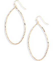 women's halogen shimmer chain teardrop earrings