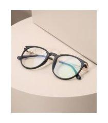 armação de óculos redondo unissex ace preto