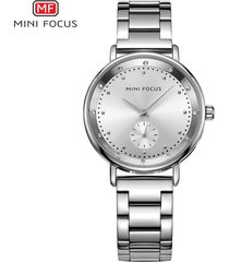 mini focus / 0037l / reloj para mujer / moda / doble dial /-blanco
