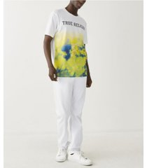 true religion men's tie dye gradient short sleeve crewneck t-shirt